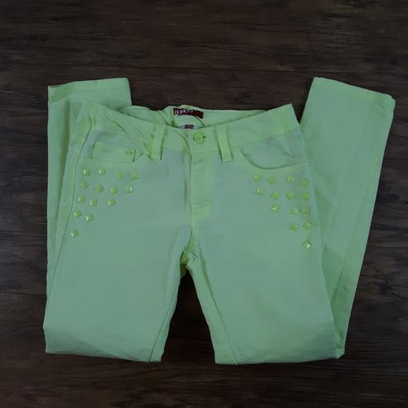 BONGO Other - Bongo Skinny Jeans Studs Neon Green Chartreuse